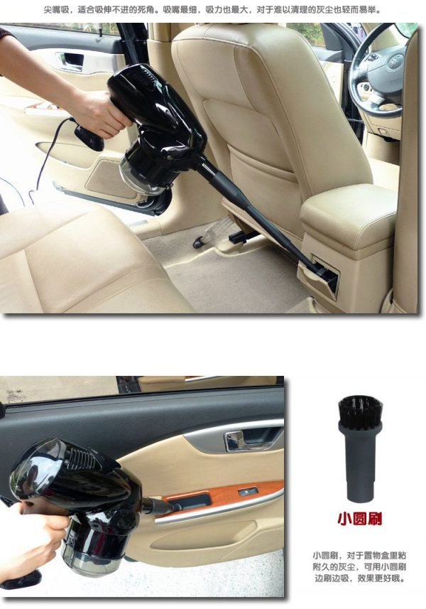 12V 100W Car Vacuum Super Suction, Real 100W 12Volt Car Vacuum Machine, Vacuum coins easily, no wonder to sunction dirt