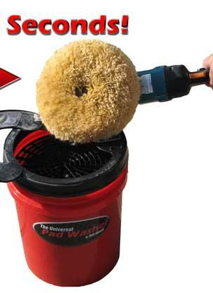 MJJC bucket washing and drying system for both Foam Pad and Wool
