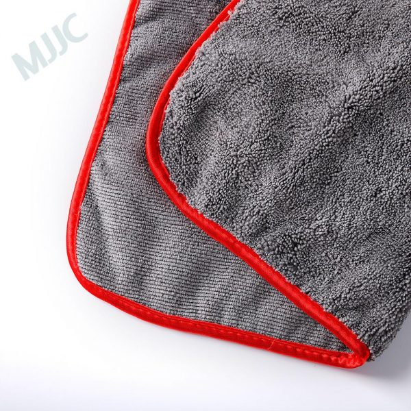 Silk Edged Microfiber Towel 400gsm 40x40cm