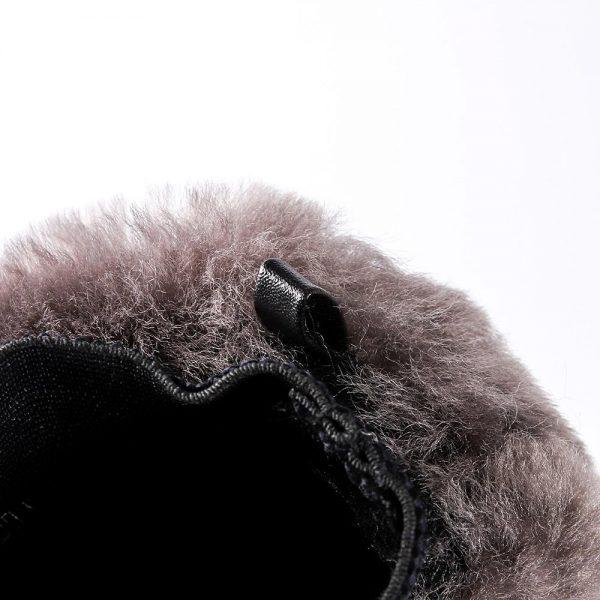 Wool Wash Mitt Grey Color