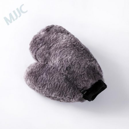 Wool Wash Mitt with Thumb Grey Color
