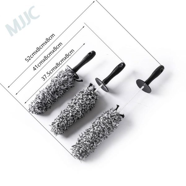 MJJC Brand 2019 Microfiber Wheel Detailing Cleaning Brush 3 pieces Kit with High Quality