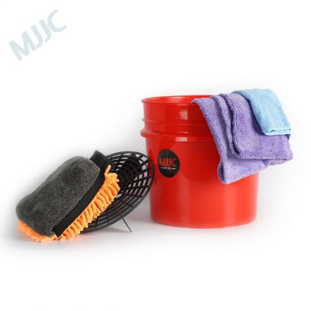 MJJC Detailing Car Wash Bucket with Grit Keeper, Wash Mitt, Towels for Interior and Paint